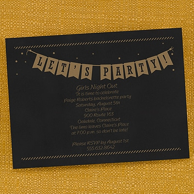 Let's Party Banner - Invitation