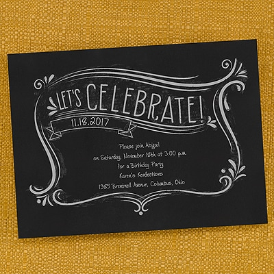 Let's Celebrate - Invitation