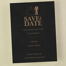 Save the Date for the Bride and Groom