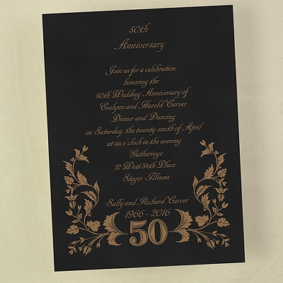 50 in Filigree - Invitation