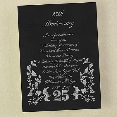 25 in Filigree - Invitation