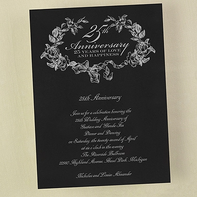 25 Years of Happiness - Invitation