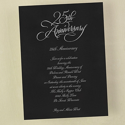 25 Anniversary - Invitation