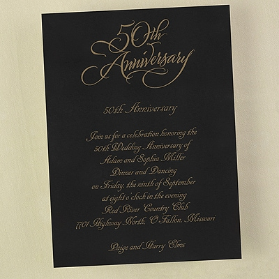 50 Anniversary - Invitation
