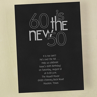60 is the New 50 - Invitation