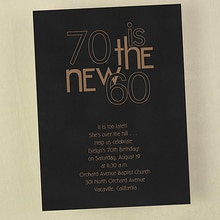 70 is the New 60