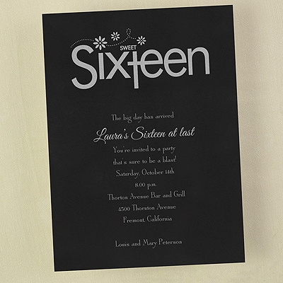 Sweet 16 Party - Invitation