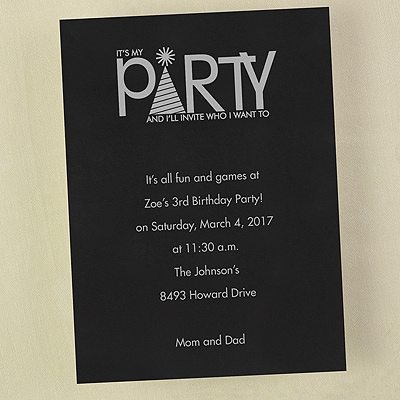 It's my Party - Invitation