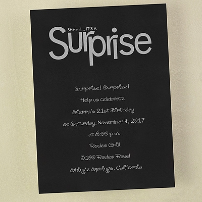 Surprise Party - Invitation