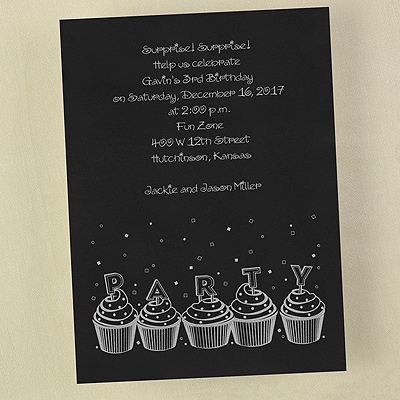 Party Cupcakes - Invitation