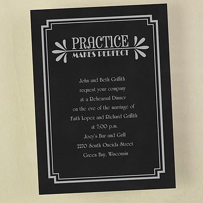 Practice Makes Perfect - Invitation