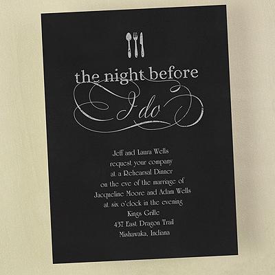 The Night Before I Do - Invitation