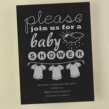 Baby Shower 3 Onesies
