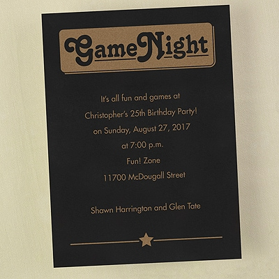 Game Night - Invitation