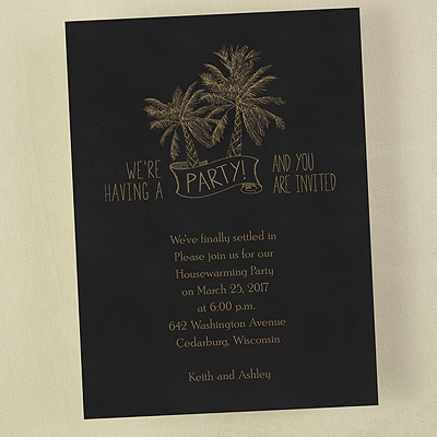 Palm Trees - Invitation