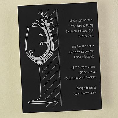 Wine Glass - Invitation