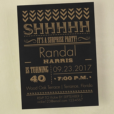 It's a Surprise Party - Invitation
