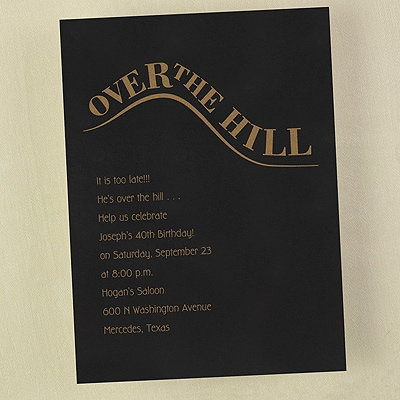 Over the Hill - Invitation