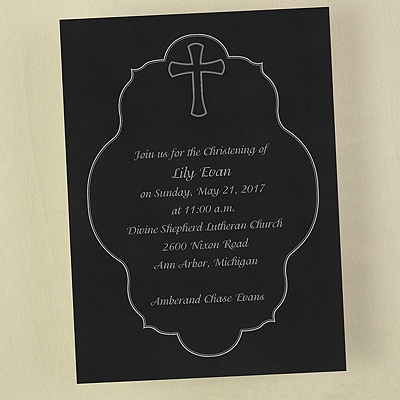 Baptism Crest - Invitation