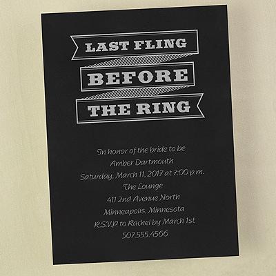 Last Fling . . . - Invitation