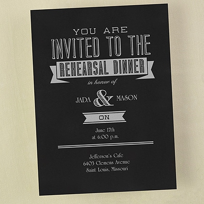 Rehearsal Dinner - Invitation