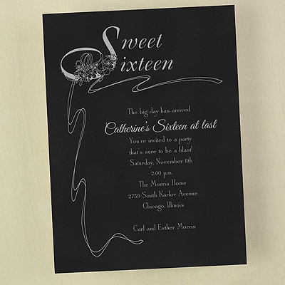 Super Sweet 16 - Invitation