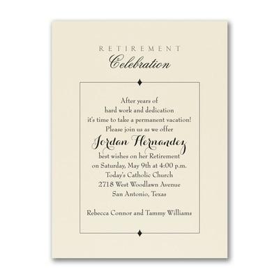 retirement party party invitation ecru retirement invitations