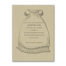 A Christening Blessing - Baptism Invitation - Kraft