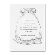 A Christening Blessing - Baptism Invitation - White