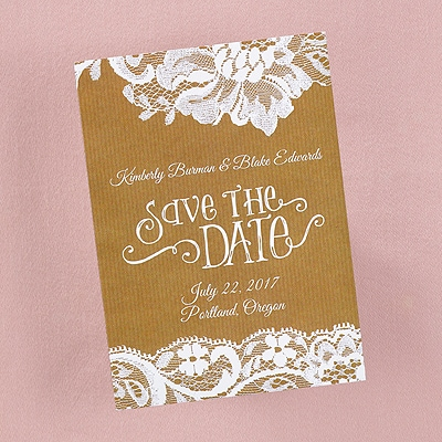 Swirls and Lace - Save the Date Card