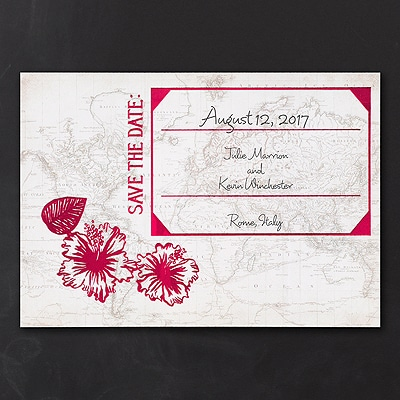 Exotic Journey - Save the Date Card