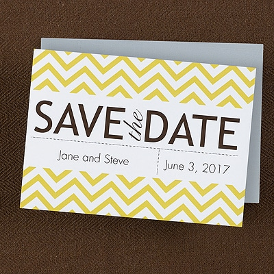 Chevron Celebration - Save the Date Magnet