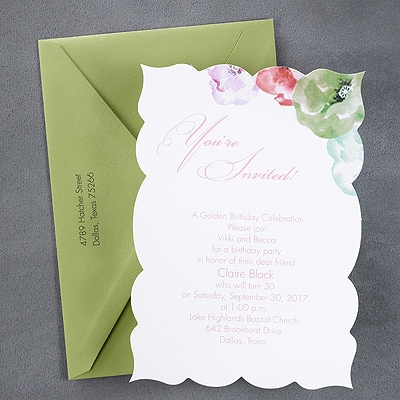 Shabby Chic - Invitation