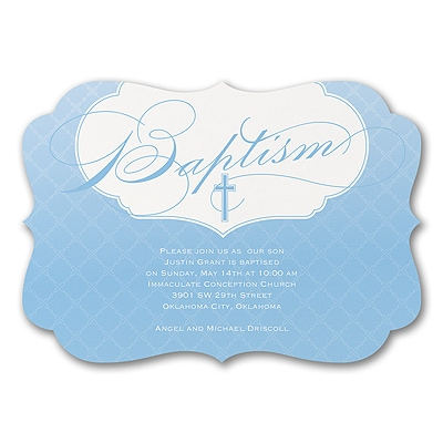 God's Precious Gift - Invitation - Blue