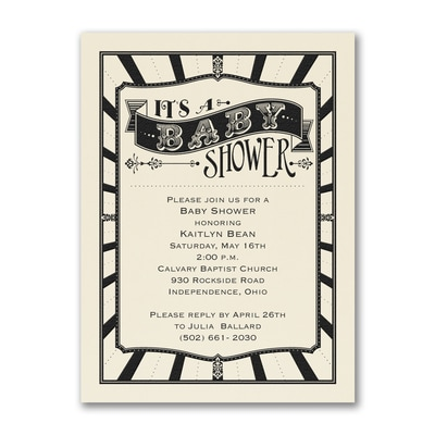 Baby Shower - Baby Shower Invitation - Ecru