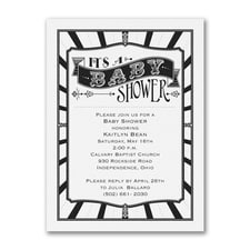 Baby Shower - Baby Shower Invitation - White