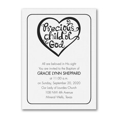 Baptism Heart -