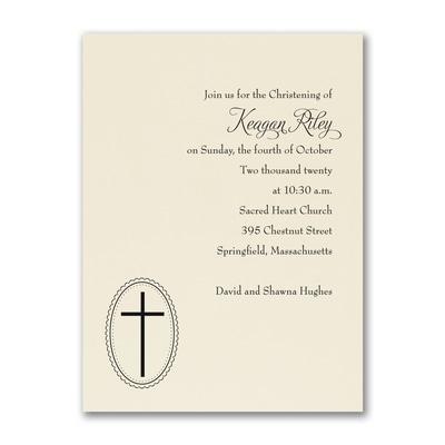 Baptism - Baptism Invitation - Ecru
