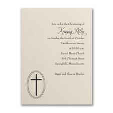 Baptism - Baptism Invitation - Ecru Shimmer