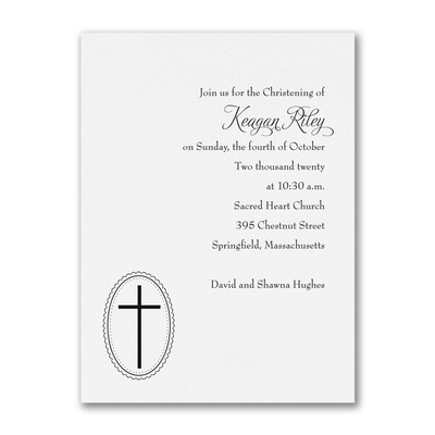 Baptism - Baptism Invitation - White