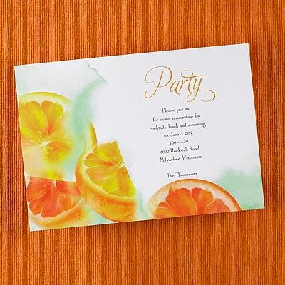 Citrus Zest - Invitation