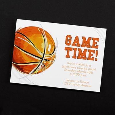 Game Time! Basketball - Invitation