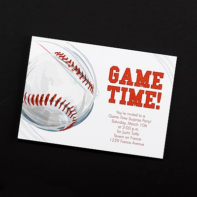 Game Time! Baseball - Invitation