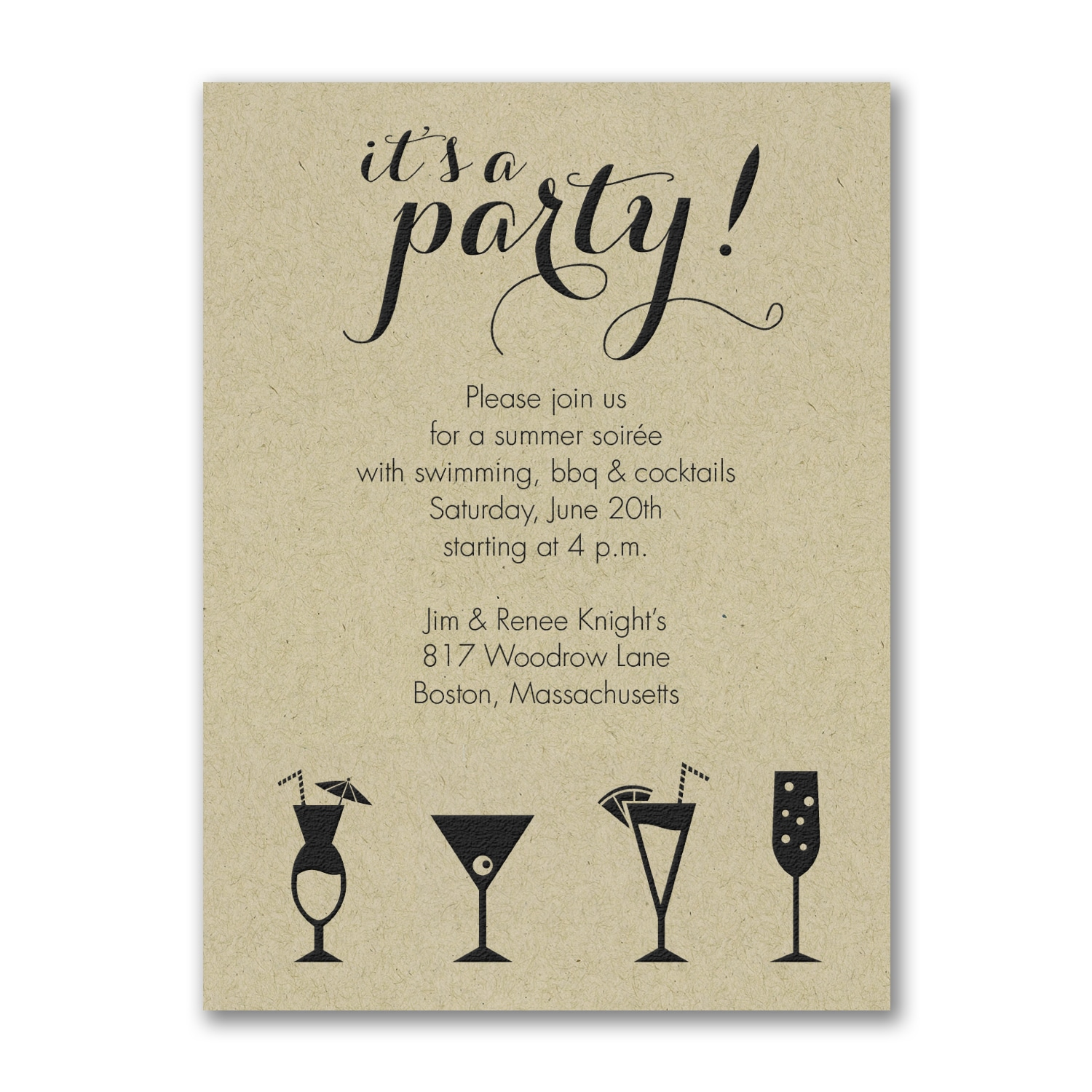 It S A Cocktail Party Party Invitation Kraft Other