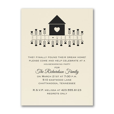 House Warming - Party Invitation - Ecru