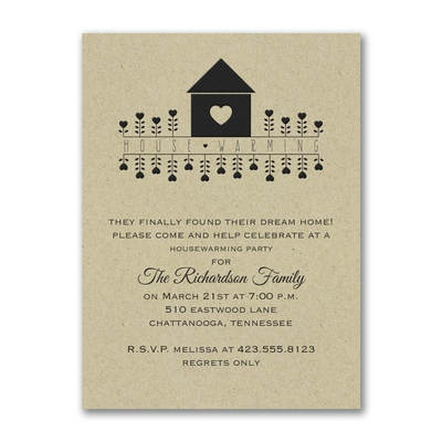 House Warming - Party Invitation - Kraft