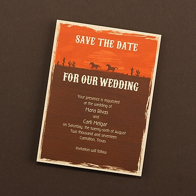 Sienna Sky - Save the Date Card