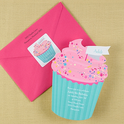Cute as a Cupcake - Invitation
