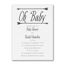 Baby's Here - Birth Announcement - White