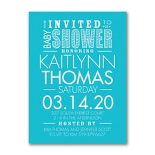 Little Typography - Baby Shower Invitation
